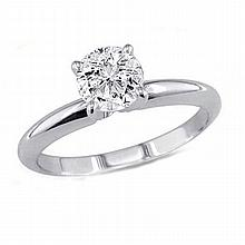 0.50 ct Round cut Diamond Solitaire Ring, G-H, SI2 - L11407