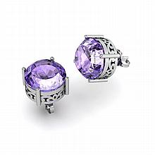 Tanzanite 5.75ctw Earring 14kt White Gold - L11202