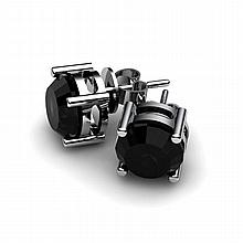Black Diamond 2.00ctw Earring 14kt White Gold - L10942