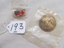 pocket medallion and Mickey Pin