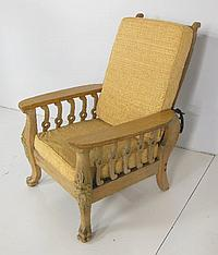 Painted oak Morris chair with