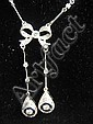 14kt diamond  &  sapphire necklace
