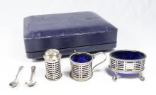 Partial Sterling Silver Condiment Set