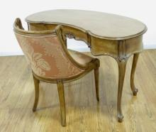 Country French Kidney Desk & Chair