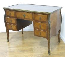 Louis XV Style Raised Kneehole Desk.