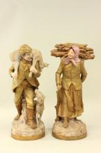 Pair of Royal Dux figures