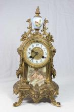 Waterbury Bronze Mantle Clock