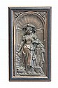 Bronze hanging framed wall plaque