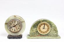 2 Art deco marble clocks