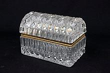 Glass jewelry casket