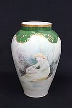 Hand painted Limoges porcelain vase