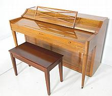 Baldwin acrosonic upright piano with bench