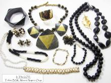 Signed Trifari, BSK, Monet, Napier, Vintage Costume Jewelry LOT