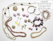 Signed MIRIAM HASKELL, S. Coventry, Swarovsky, Austrian Crystal, Mother of Pearl, Designer Vintage Costume Jewelry LOT