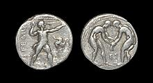 Ancient Greek Coins - Aspendus - Pamphylia - Wrestlers Stater
