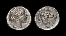 Ancient Greek Coins - Leontini - Apollo Tetradrachm