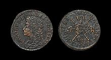 Irish Milled Coins - James II - August 1689 Civil War - Gun Money Sixpence