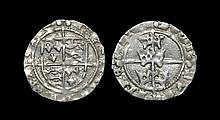 Irish Tudor Hammered Coins - Henry VII - Dublin - Three Crowns Groat