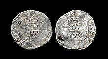 Irish Tudor Hammered Coins - Henry VII - Dublin - Three Crowns Halfgroat