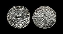 Irish Tudor Hammered Coins - Henry VII - Dublin - Long Cross Groat