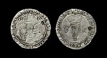 Irish Tudor Hammered Coins - Phillip and Mary - 1556 - Groat