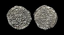 Irish Medieval Hammered Coins - Edward IV - Dublin - Long Cross Groat