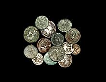 Ancient Greek Coins - Silver and Bronze Coin Group [14]