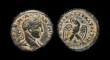 Ancient Greek Coins - Antioch ad Orontem - Elagabalus - Billon Eagle Tetradrachm