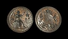 Post Medieval Queen Anne Royal Seal Matrix Pair