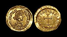 Ancient Byzantine Coins - Tiberius II - Gold Tremissis
