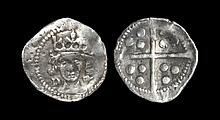English Medieval Coins - Edward IV - Durham - Bishop Dudley - Local Dies Penny