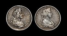 English Commemorative Medals - James II and Mary - Silver Coronation Medal