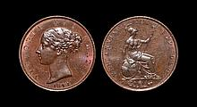 English Milled Coins - Victoria - 1841- Halfpenny
