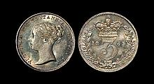 English Milled Coins - Victoria - 1865 - Threepence