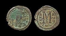 Ancient Byzantine Coins - Justinian I - Bronze Follis