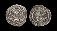 English Medieval Coins - Henry III - Canterbury / Osmund - Short Cross Penny