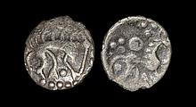 Celtic Iron Age Coins - Iceni - Stickman Boar Silver Half Unit
