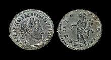 Ancient Roman Imperial Coins - Maximinus II - London - Genius Follis