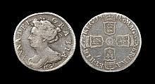 English Milled Coins - Anne - 1703 VIGO - Sixpence