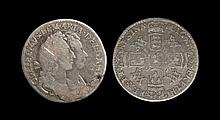 English Milled Coins - William and Mary - 1693 - Sixpence