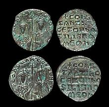 Ancient Byzantine Coins - Constantine VII and Zoe - Follis [2]