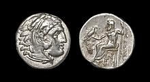 Ancient Greek Coins - Macedonia - Alexander III - Zeus Drachm