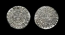 English Medieval Coins - Edward III - London - Pre Treaty Halfgroat