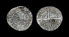 English Medieval Coins - Edward III - London - Pre Treaty Mule Halfgroat