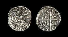 English Medieval Coins - Edward I - London - Long Cross Farthing