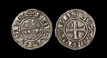 English Medieval Coins - Edward I - Duke of Aquitaine - Denier au Léopard
