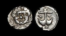 Ancient Greek Coins - Black Sea - Apollonia Pontika - Anchor Reduced Drachm