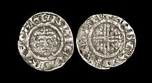 English Medieval Coins - Richard I - Canterbury / Rober(d) - Short Cross Penny