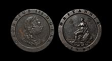 English Milled Coins - George III - 1797 - Cartwheel Twopence