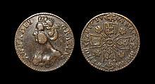 English Tokens - Anne - 1761 - Copper Jeton